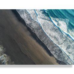 Vászonkép - Black Beach