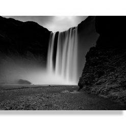 Vászonkép - Skogafoss Black&White